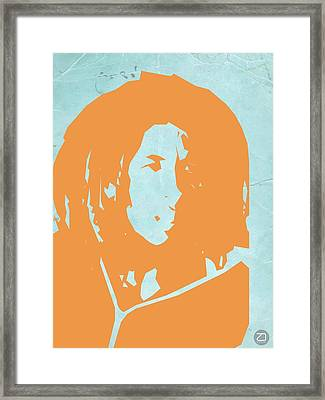 Bob Marley Yellow 2 Framed Print by Naxart Studio
