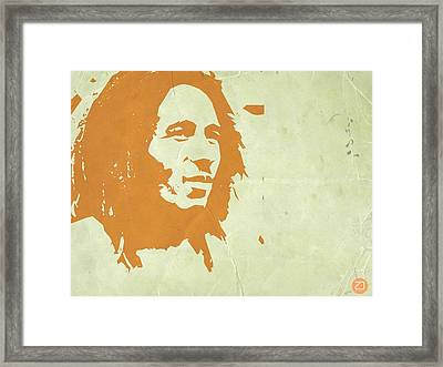 Bob Marley Yellow 3 Framed Print by Naxart Studio