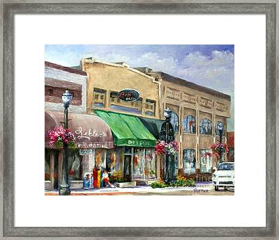 Bob's Grill Framed Print by Virginia Potter