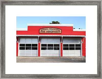 Bodega Volunteer Fire Department . Bodega Bay . Town Of Bodega . California . 7d12461 Framed Print by Wingsdomain Art and Photography