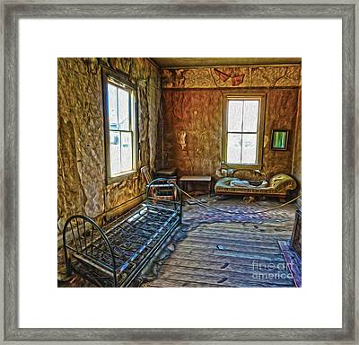 Bodie Ghost Town - Old House 03 Framed Print by Gregory Dyer