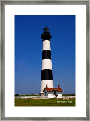 Bodie Island Lighthouse Outer Banks Nc Framed Print by Susanne Van Hulst