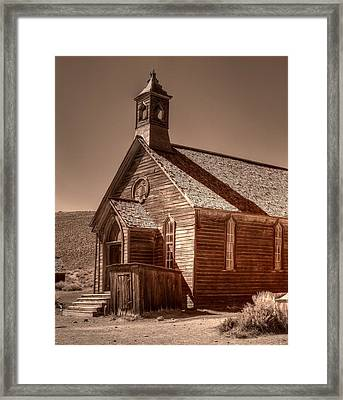 Bodie State Historic Park California Church Framed Print by Scott McGuire