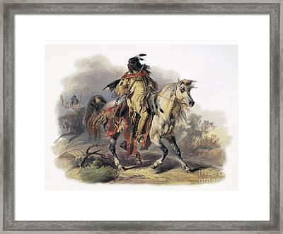 Bodmer: Blackfoot Horseman Framed Print by Granger