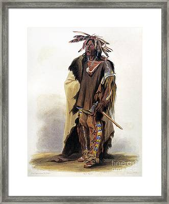 Bodmer: Sioux Chief Framed Print by Granger