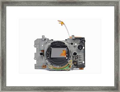 Body Of Broken 35mm Film Camera Framed Print by Sami Sarkis