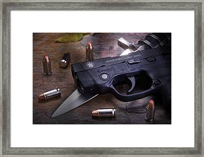 Bodyguard Concealed Carry Framed Print by Tom Mc Nemar