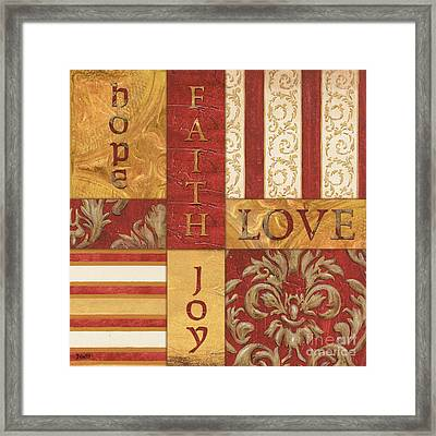 Bohemian Red Spice 1 Framed Print by Debbie DeWitt