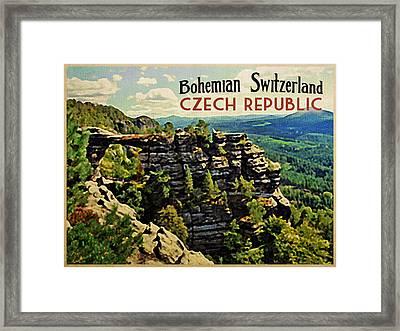 Bohemian Switzerland Czech Republic Framed Print by Flo Karp