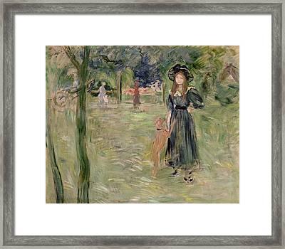 Bois De Boulogne Framed Print by Berthe Morisot