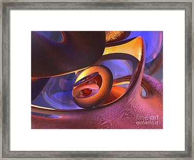 Bold Contagion Abstract Framed Print by Alexander Butler