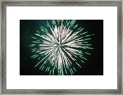 Bomb Bursting In Air Framed Print by Michael Merry