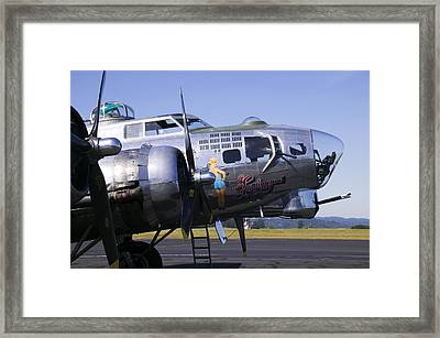 Bomber Sentimental Journey Framed Print by Garry Gay