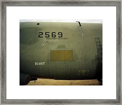 Bombs Away - B52d Framed Print by Jan Faul