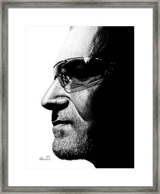 Bono - Half The Man Framed Print by Kayleigh Semeniuk