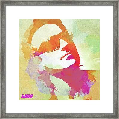 Bono Framed Print by Naxart Studio