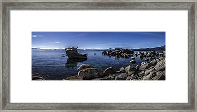 Bonsai Rock Lake Tahoe Framed Print by Brad Scott
