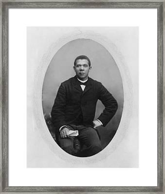 Booker T. Washington 1856-1915,  Ca Framed Print by Everett