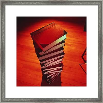 Books Framed Print by Tek Image