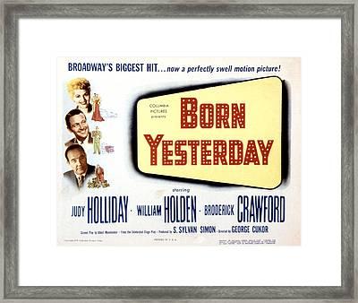 Born Yesterday, Broderick Crawford Framed Print by Everett