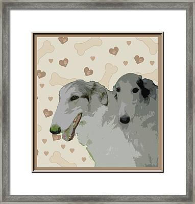 Borzoi Framed Print by One Rude Dawg Orcutt