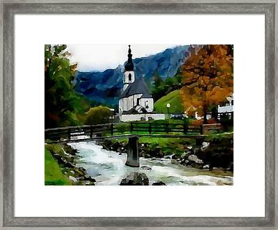 Bosnian Country Church Framed Print by Jann Paxton