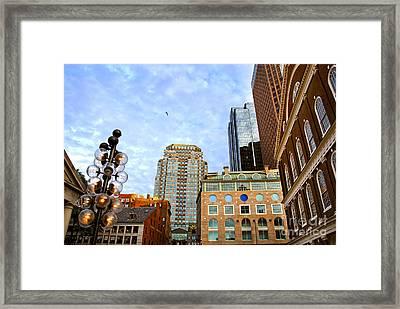 Boston Downtown Framed Print by Elena Elisseeva