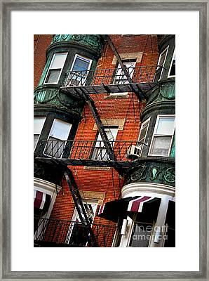 Boston House Fragment Framed Print by Elena Elisseeva