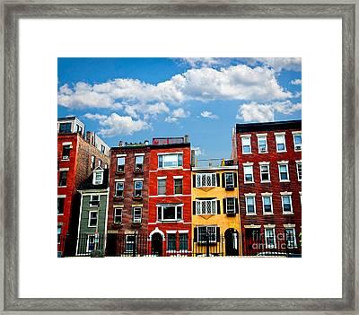 Boston Houses Framed Print by Elena Elisseeva