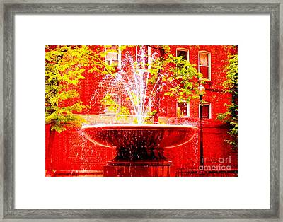 Boston Red Framed Print by Ann Johndro-Collins