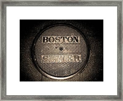 Boston Sewer Framed Print by Sheryl Burns
