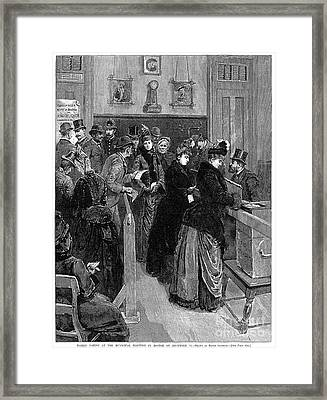Boston: Women Voting, 1888 Framed Print by Granger