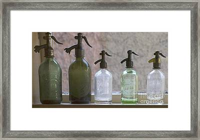 Bottle Of Water  Framed Print by Odon Czintos