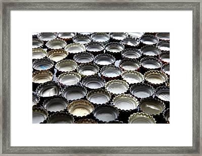 Bottlecaps Framed Print by Shana Novak
