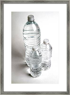 Bottled Water Framed Print by Photo Researchers