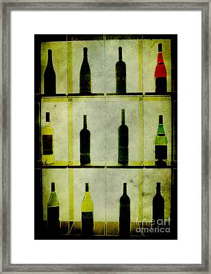 Bottles Framed Print by Alexander Bakumenko