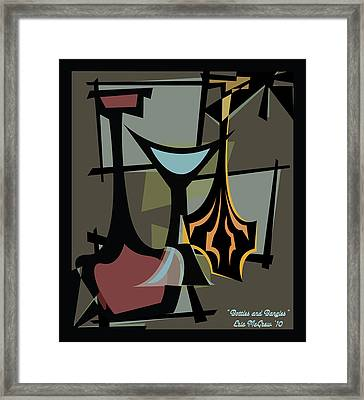 Bottles And Bangles  Framed Print by Eric  McGrew