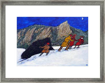 Boulder Christmas Framed Print by Tom Roderick