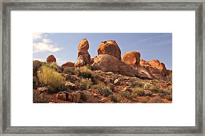 Boulder Landscape Framed Print by Marty Koch