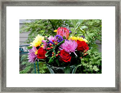 Bouquet  3 Framed Print by Tanya  Searcy