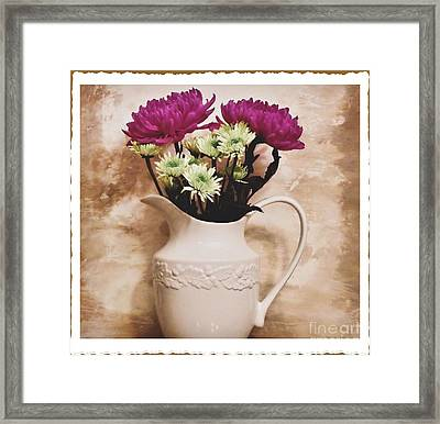 Bouquet One Framed Print by Marsha Heiken