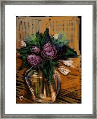 Bouquet Framed Print by Russell Pierce