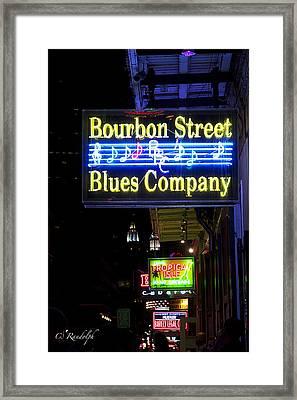 Bourbon Street Blues Framed Print by Cheri Randolph