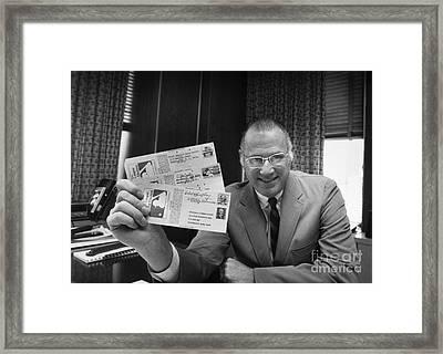 Bowie Kuhn (1926-2007) Framed Print by Granger