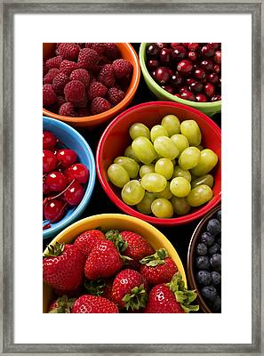 Bowls Of Fruit Framed Print by Garry Gay