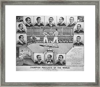 Boxing: American Champions Framed Print by Granger