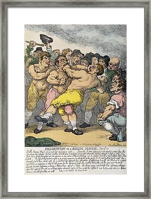 Boxing Match, 1812 Framed Print by Granger