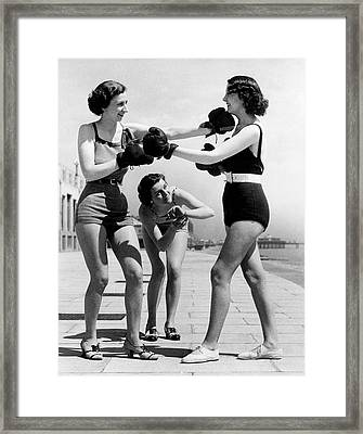 Boxing On The Prom Framed Print by William Vanderson