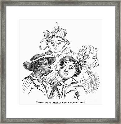 Boys With Bee Stings Framed Print by Granger