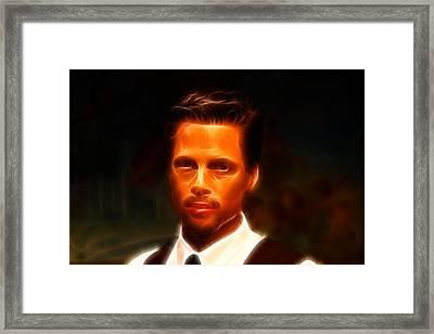 Brad Pitt II  Framed Print by Lee Dos Santos